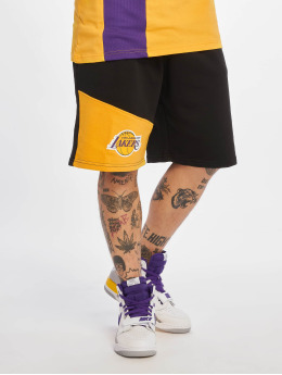 New Era Basketball Shorts NBA Los Angeles Lakers black