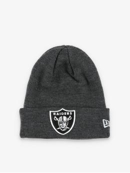 New Era Beanie NFL Oakland Raiders Heather Essential Knit grau