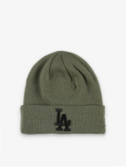 New Era Beanie MLB LA Dodgers League Essenital olijfgroen