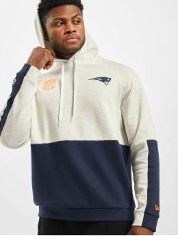 New Era Bluzy z kapturem NFL New England Patriots Colour Block bezowy