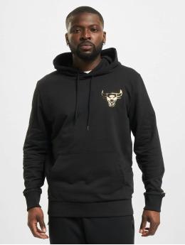New Era Bluzy z kapturem NBA Chicago Bulls Metalic  czarny