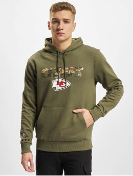 New Era Bluzy z kapturem NFL Kansas City Chiefs Camo Wordmark PO oliwkowy
