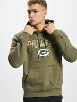 New Era Bluzy z kapturem NFL Green Bay Packers Camo Wordmark PO  oliwkowy