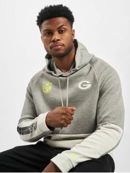 New Era Bluzy z kapturem NFL Green Bay Packers Colour Block szary