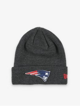 New Era Bonnet NFL New England Patriots Heather Essential Knit gris