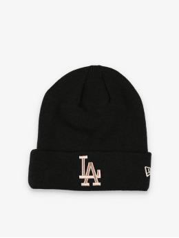 New Era Bonnet MLB LA Dodgers League Essential Cuff Knit noir