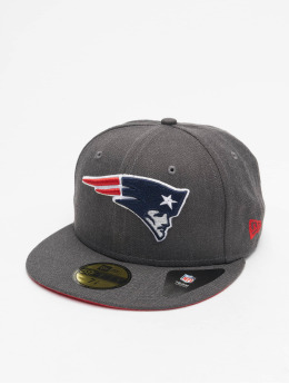 New Era Casquette Fitted NFL New England Patriots Essential 59Fifty gris