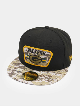 New Era Casquette Fitted NFL 21 Green Bay Packers Stretch Snap 59Fifty noir