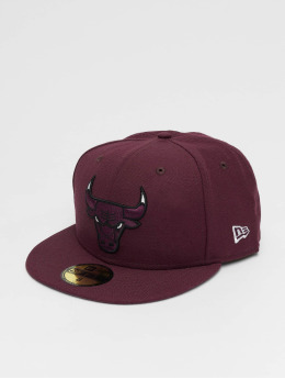 New Era Casquette Fitted Chicago Bulls rouge