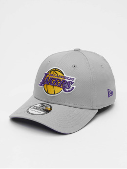New Era Casquette Flex Fitted NBA Team LA Lakers 39Thirty gris