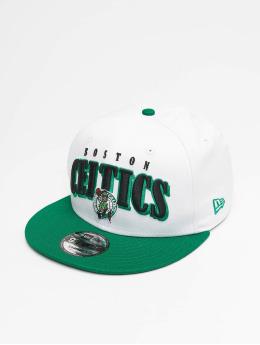 New Era Casquette Snapback & Strapback NBA Boston Celtics Retro Pack Flat Visor 9Fifty blanc