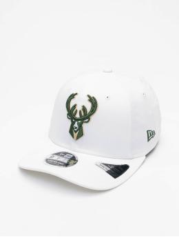 New Era Casquette Snapback & Strapback NBA Milwaukee Bucks White Base blanc