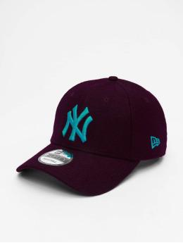New Era Casquette Snapback & Strapback MLB NY Yankees Melton 9Forty rouge