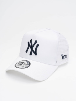 New Era Casquette Trucker mesh MLB NY Yankees League Essential blanc