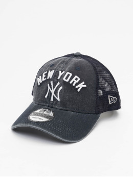 New Era Casquette Trucker mesh MLB NY Yankees Rugged Team bleu