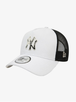 New Era Casquette Trucker mesh MLB New York Yankees Check Infill 9Forty AF gris