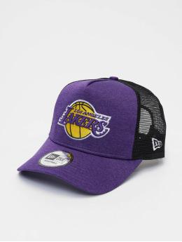 New Era Casquette Trucker mesh NBA LA Lakers Shadow Tech 9forty A-Frame pourpre