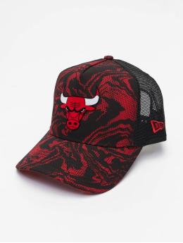 New Era Casquette Trucker mesh NBA Chicago Bulls Seasonal rouge
