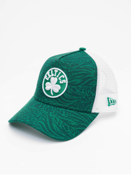 New Era Casquette Trucker mesh NBA Boston Celtics Hoo vert