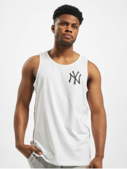 New Era Débardeur MLB NY Yankees Sleeve Taping blanc