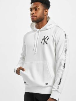 New Era Felpa con cappuccio MLB NY Yankees Sleeve Taping  bianco