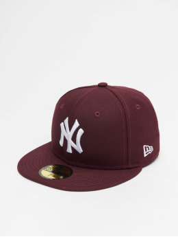 New Era Fitted Cap MLB NY Yankees League Essential 59Fifty èervená