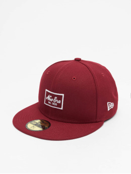 New Era Fitted Cap Patch 59Fifty èervená