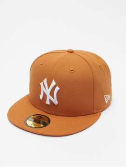 New Era Fitted Cap MLB New York Yankees League Essential 59Fifty brazowy