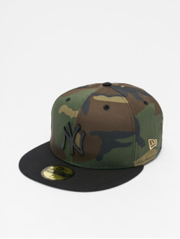 New Era Fitted Cap MLB NY Yankees Metal Badge 59Fifty camouflage
