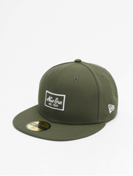 New Era Fitted Cap Patch 59Fifty olijfgroen