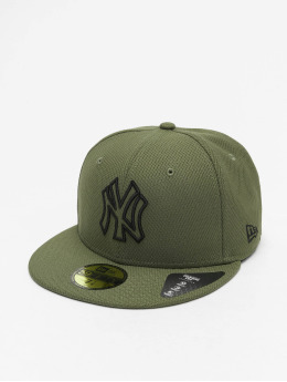 New Era Fitted Cap MLB NY Yankees Diamond Era Essential 59Fifty oliwkowy
