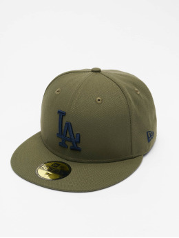 New Era Fitted Cap MLB Los Angeles Dodgers League Essential 59Fifty oliwkowy