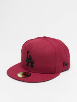 New Era Fitted Cap MLB LA Dodgers League Essential 59Fifty rød