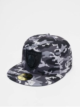 New Era Fitted Cap NFL Oakland Raiders Camo 59fifty schwarz