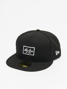 New Era Fitted Cap Patch 59Fifty schwarz