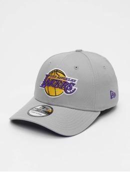 New Era Flexfitted Cap NBA Team LA Lakers 39Thirty šedá