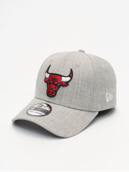 New Era Flexfitted Cap NBA Chicago Bulls Heather 39Thirty grau