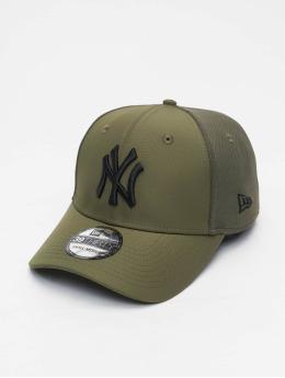 New Era Flexfitted Cap MLB New York Yankees Mesh Back 39Thirty olijfgroen