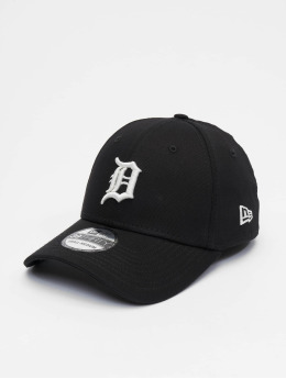 New Era Flexfitted Cap MLB Detroit Tigers League Essential 39thirty schwarz