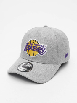 New Era Flexfitted Cap Heather 39Thirty LA Lakers szary