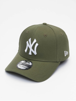 New Era Flexfitted-lippikset MLB NY Yankees League Eshortsleeveentl 39thirty vihreä