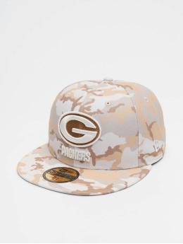 New Era Gorra plana NFL Green Bay Packers Camo blanco