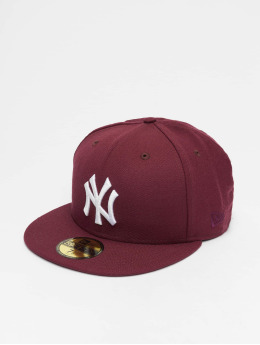 New Era Gorra plana MLB NY Yankees 59Fifty rojo