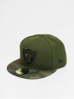 New Era Gorra plana NFL Oakland Raiders 59Fifty verde