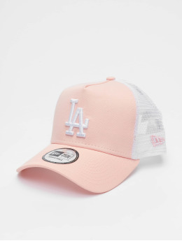 New Era Gorra Trucker Los Angeles Dodgers League Essential 9forty A-Frame fucsia