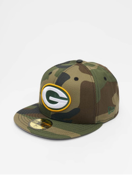 New Era Hip hop -lippikset NFL Greenbay Packers 59Fifty camouflage