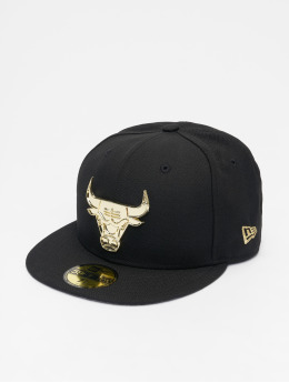 New Era Hip hop -lippikset NBA Chicago Bulls Metal Badge 59Fifty musta