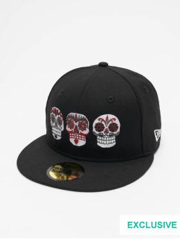 New Era Hip hop -lippikset Mexico Three Sugar Skulls 59fifty musta