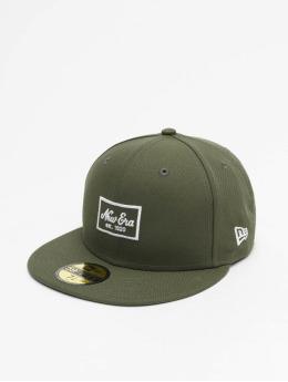 New Era Hip hop -lippikset Patch 59Fifty oliivi