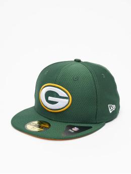New Era Hip hop -lippikset NFL Green Bay Packers Hex Era 59fifty vihreä